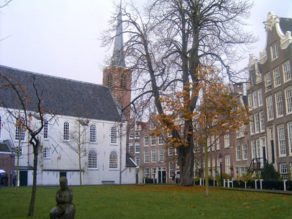 Begijnhof and the Wooden (oldest Amsterdam) House